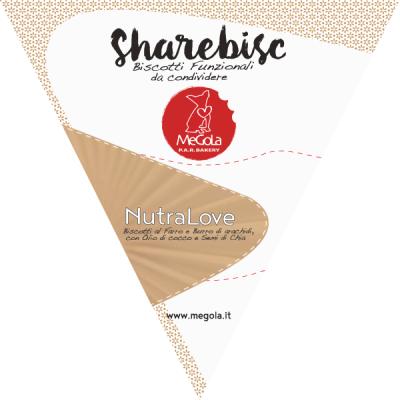 Megola ShareBisc Biscotti per Cani Ingredienti Naturali P.A.R.BAKERY Condividere Cane Uomo Ingredienti Vegano Vegani Bio NutraLove Classico Burro di Arachidi Bestseller