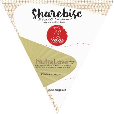 Megola ShareBisc Biscotti per Cani Ingredienti Naturali P.A.R.BAKERY Condividere Cane Uomo Ingredienti Vegano Vegani Bio NutraLove VEg+